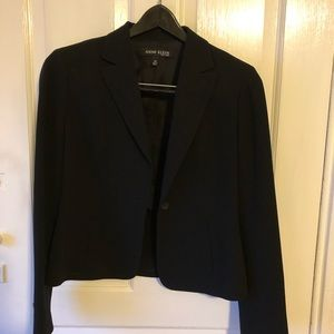 Black Anne Klein 2-button blazer